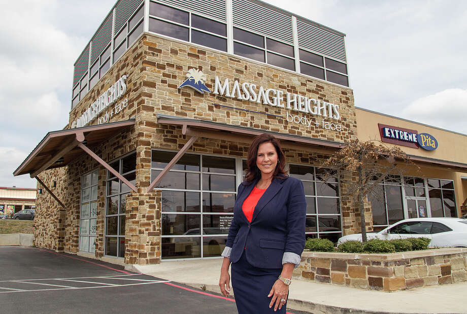 Shane Evans, founder of Massage Heights, Friday, March 21, 2014 at their Stone Oak location. Evans, along with her husband Wayne, started the company in 2004 and it has grown to over 100 locations nationwide. Photo: Alma E. Hernandez, For The San Antonio Express News