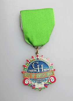 City of Castle Hills Fiesta Parade medal, $5, at Castle Hills City Hall, 209 Lemonwood Drive, or at the parade, www.cityofcastlehills.com. Photo: Juanito M. Garza, San Antonio Express-News / San Antonio Express-News
