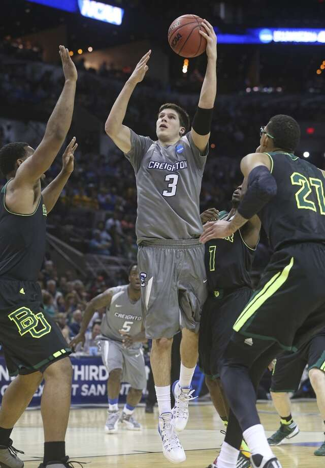 Doug McDermott tries a shot in the lane as Baylor plays Creighton in the third round of the 2014 NCAA Divison I  Men's Basketball Championship tournament  at the AT&T Center on March 23, 2014. Photo: Tom Reel, San Antonio Express-News