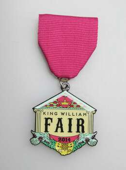 King William Fair 2014 medal, $8, at the Fiesta Store and the King William Fair offices, 1032 S. Alamo St., www.kwfair.org. Photo: Juanito M. Garza, San Antonio Express-News / San Antonio Express-News
