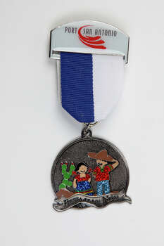 Port San Antonio's Fiesta de los Niños medal, $7, at the Fiesta store and the group's annual event April 12. The winning design of this year's annual contest was created by José Guardiola, a fourth-grader at 