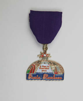 San Antonio Fiesta Flambeau Parade Association, A Time to Remember Medal, $8, at the Fiesta Store, www.fiestaflambeauparade.org. Photo: Juanito M. Garza, San Antonio Express-News / San Antonio Express-News