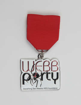 San Antonio AIDS Foundation, 2014 WEBB Party Medal, $10, on sale at the Fiesta Store; On Main Off Main, 120 W. Mistletoe; and online at www.webbparty.net. The group's 2014 Grand Menagerie Medal is $8 and is available at the same locations. Photo: Juanito M. Garza, San Antonio Express-News / San Antonio Express-News