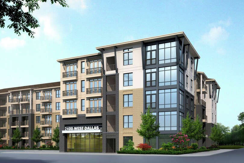 here is a rendering of what the luxury apartment complex