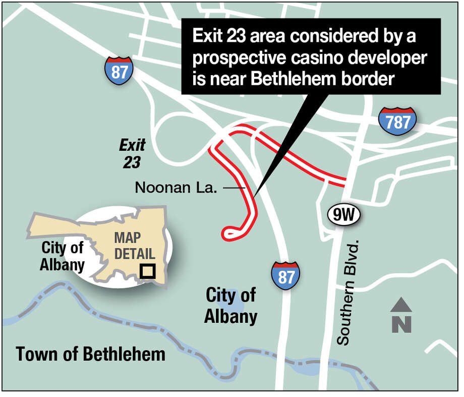 Exit 23 area considered by a prospective casino developer.