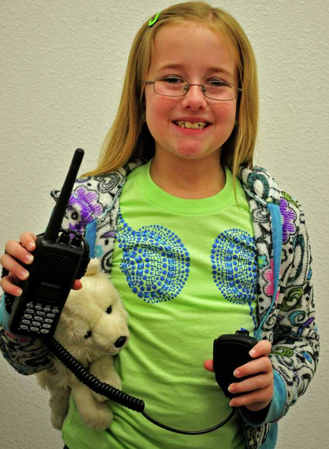 Nine-year-old Holly Wilson, of Lumberton, recently received her amateur radio license. Photo by Cassie Smith.