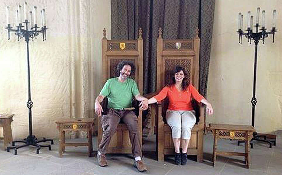Jonathan Prager and the late Annette White visited Stirling Castle during a trip they took to Scotland last year. Photo: Contributed Photo / Westport News