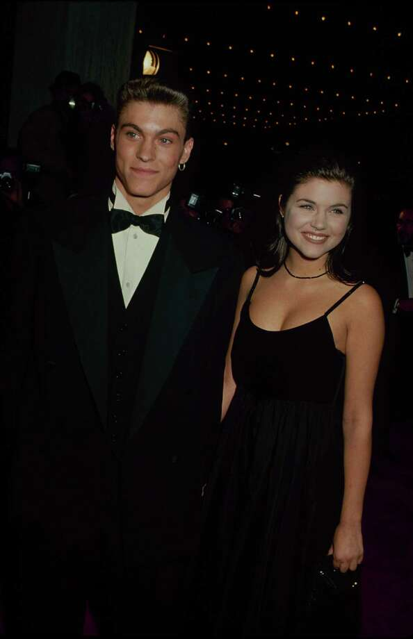 Then:  Brian Austin Green seen with Tiffani-Amber Thiessen in the early 1990s. Photo: Time & Life Pictures, Getty Images / Time & Life Pictures