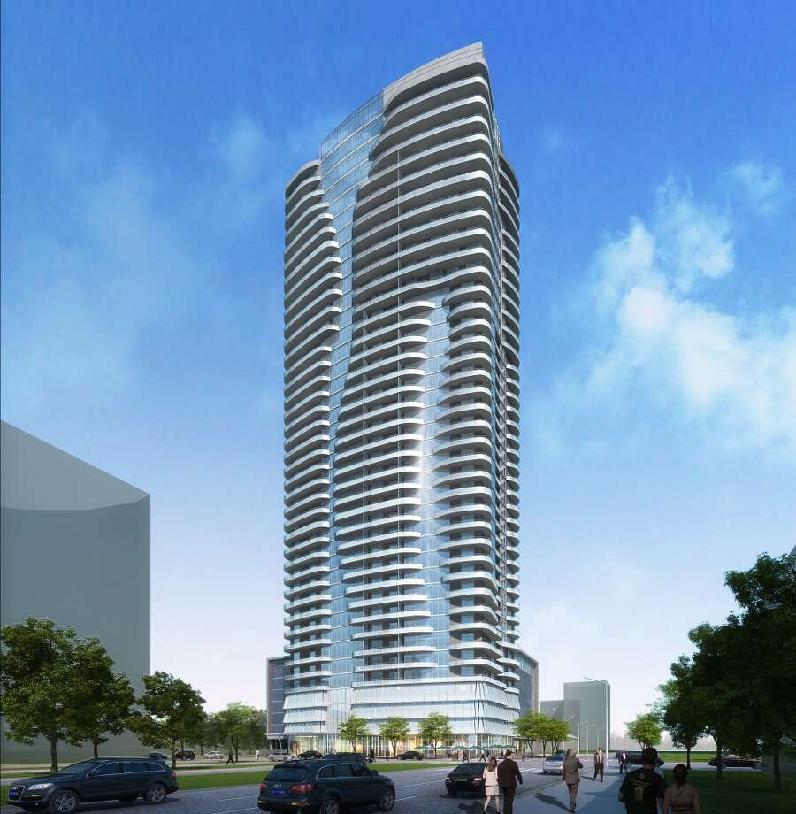A rendering of the 40-story high-rise called 2929 Weslayan. RTKL designed the building. Photo: PM Realty