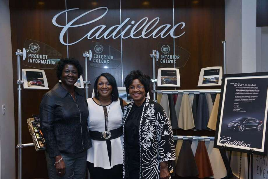 "Attendees gathered in the Stewart Cadillac showroom in downtown Houston for ""The Big Reveal"" presented by Sparkles of Life March 6. Photo: Priscilla T Graham, Priscilla Graham Photography"