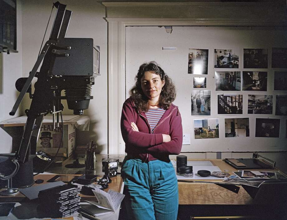 Photographer Janet Delaney in her darkroom on Langton Street