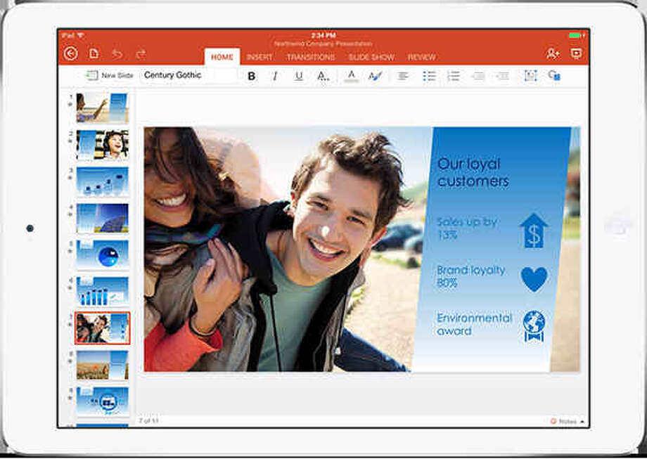 Powerpoint for iPad Photo: Microsoft