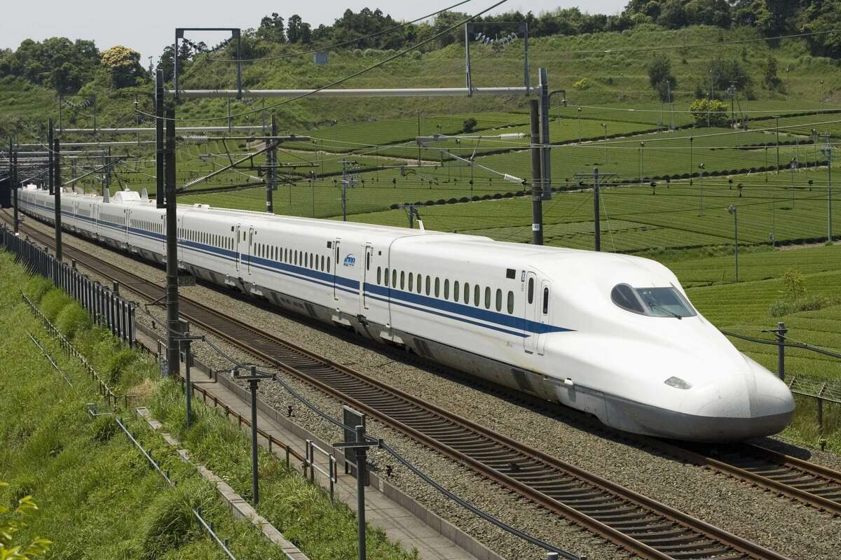 The proposed N700 bullet train that would move people between Dallas-Fort Worth and Houston in 90 minutes. Click the gallery to see the U.S. cities with the best public transportation.