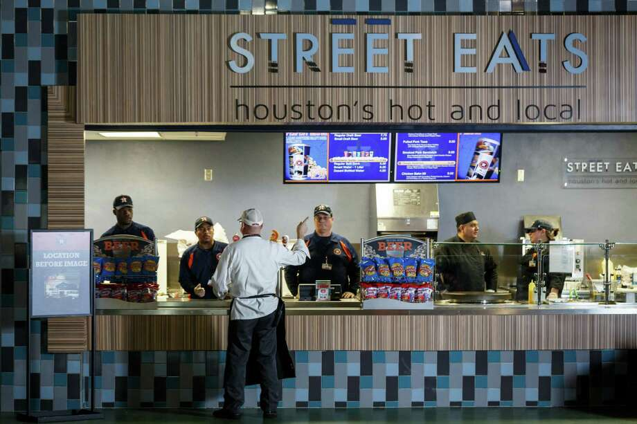 Minute Maid Park unveiled a new line of concession food you can get during one of the Astros game. Here's a hint: these foods are like nothing you've seen at a sporting event before. New to the stadium this year: Street Eats. It's among the many improvements at Minute Maid Park this season.Keep clicking to see what other menu items your taste buds are in store for. Photo: Michael Paulsen, Staff / © 2014 Houston Chronicle