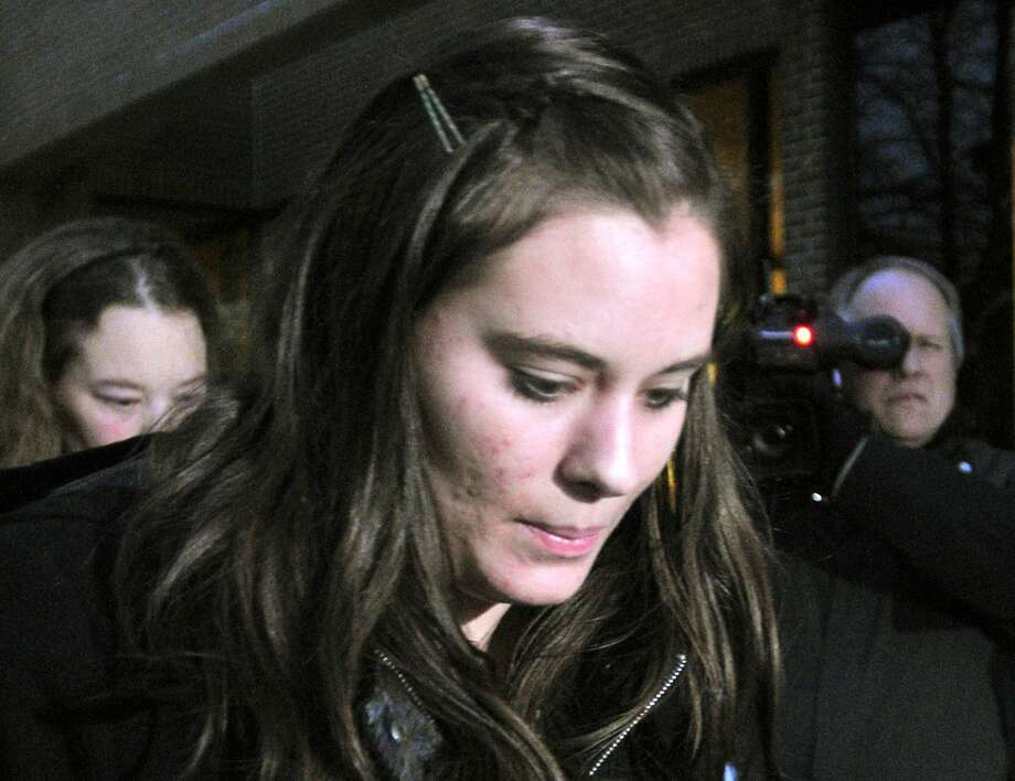 Jordan Graham leaves U.S. District Court in Missoula, Montana in a December 11, 2013 file photo. Graham, accused of pushing her husband off a cliff to his death at Glacier National Park asked a judge on Tuesday to withdraw a guilty plea she entered as part of a deal with prosecutors to avoid a life sentence, court records show. She pleaded guilty to second-degree murder in the July 7 death of her husband of eight days, Cody Johnson. In exchange, prosecutors dropped a first-degree murder charge, which alleges premeditation and carries a mandatory life sentence.  REUTERS/Arthur Mouratidis/files  (UNITED STATES - Tags: CRIME LAW) Photo: Arthur Mouratidis, Reuters