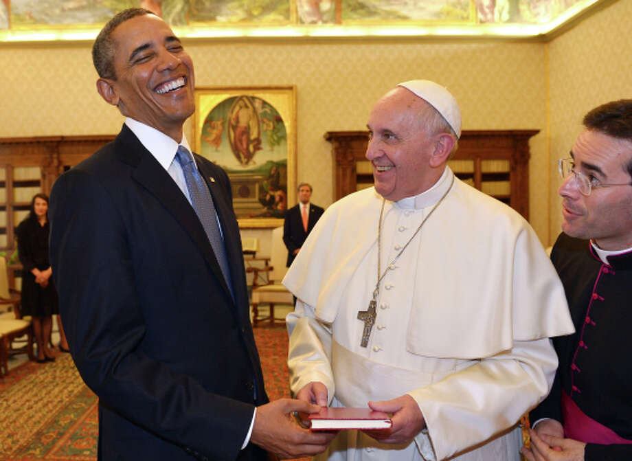 President Barack Obama is greeted by Pope Francis at the Vatican, March, 27, 2014 The deal to restore diplomatic relations with Cuba was negotiated during 18 months of secret talks hosted largely by Canada and encouraged by Pope Francis, who hosted a final meeting at the Vatican. Photo: Gabriel Bouys / Associated Press / AFP Pool