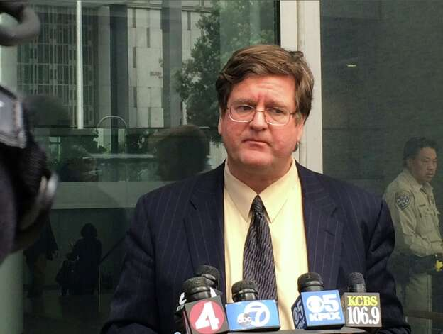Paul DeMeester, attorney of California state Senator Leland Yee, announces that Yee will be withdrawing from the California Secretary of State election on March 27, 2014. Yee was arrested on March 26 as part of an FBI corruption probe. Photo: Mike Kepka, The Chronicle