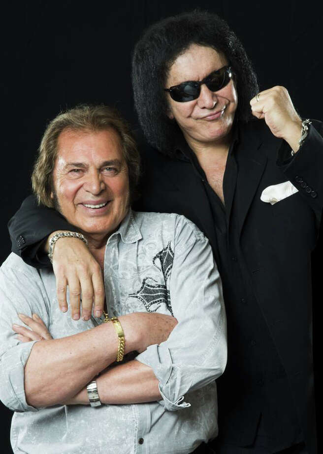 Engelbert Humperdinck, seen here with Gene Simmons of KISS, recently celebrated the release of his first album of duets, which includes a collaboration with Simmons. Humperdinck will be on his own, however, when he makes his way to Stamford, Conn., on Wednesday, April 9, 2014, for a 7:30 p.m. show. Contributed photo/Jennifer Cawley Photo: Contributed Photo / Stamford Advocate Contributed