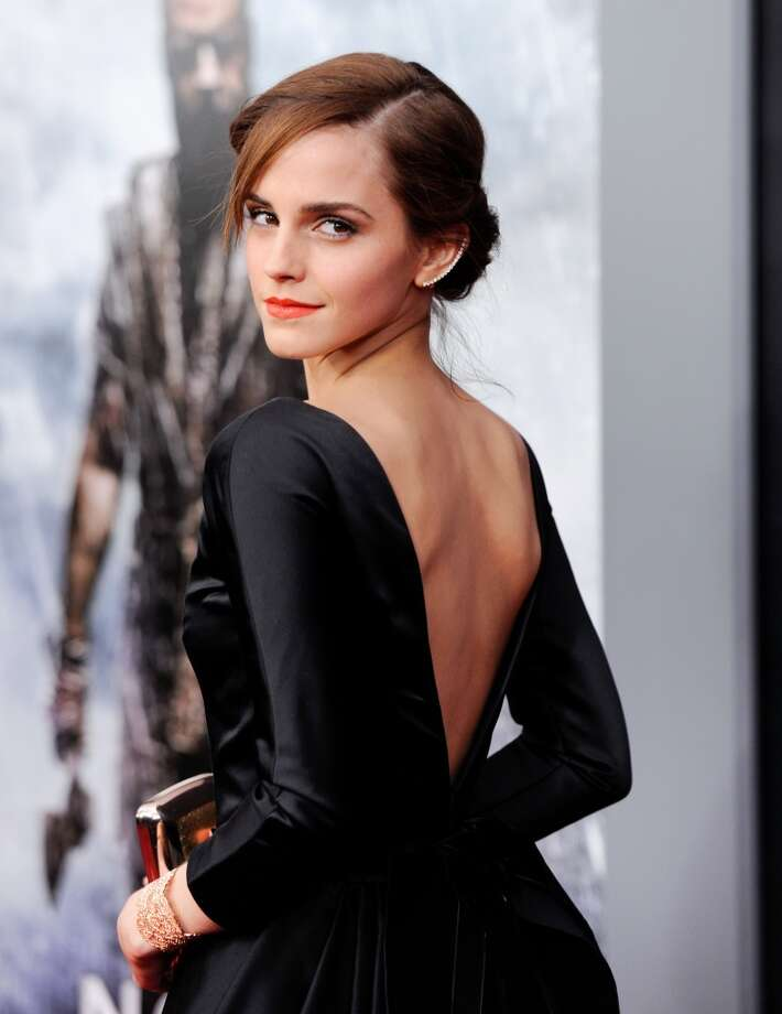 "Actress Emma Watson attends the premiere of ""Noah"" at the Ziegfeld Theatre on Wednesday, March 26, 2014, in New York. Photo: Evan Agostini, Associated Press"