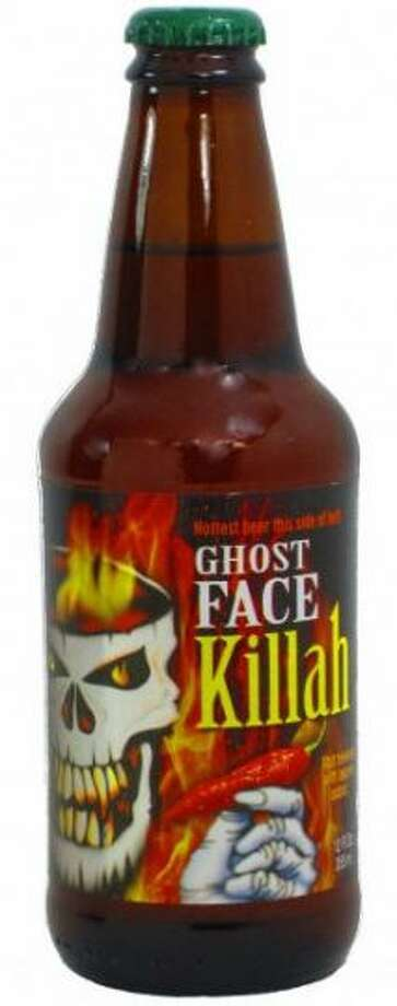 Ghost Face Killah Beer features several chili flavors, notably the Ghost Pepper (Twisted Pine Brewing Company)