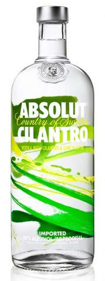 Cilantro-flavored vodka (Absolut)