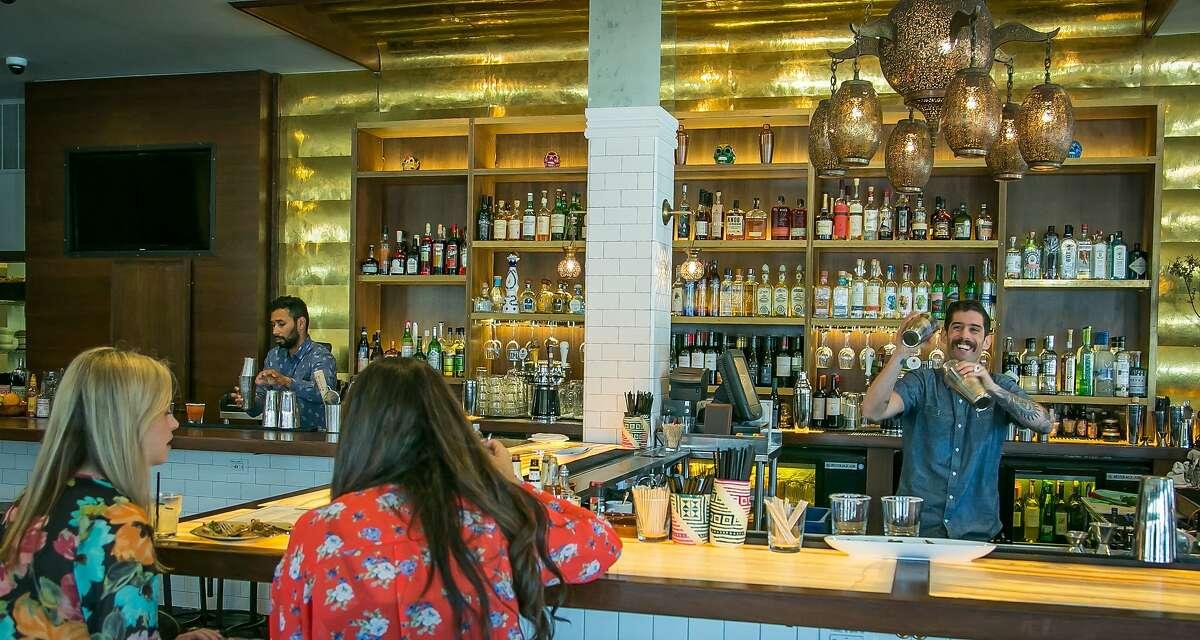Bartender Francisco Carminatti makes drinks at Sabrosa in San Francisco, Calif., is seen on Saturday, March 22nd, 2014.