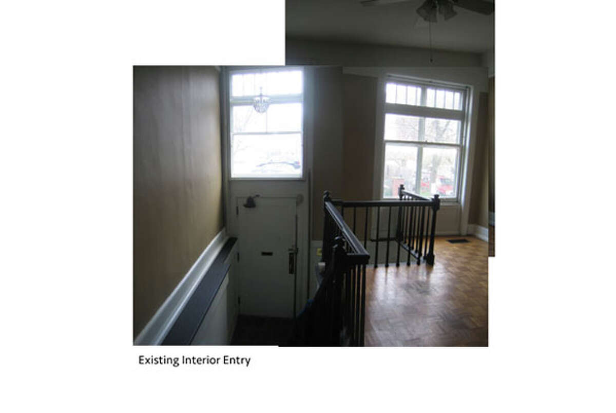 The first floor of Shadi Khadivi and Jason D'Cruz's home at 56 1/2 Spring St. before renovations.