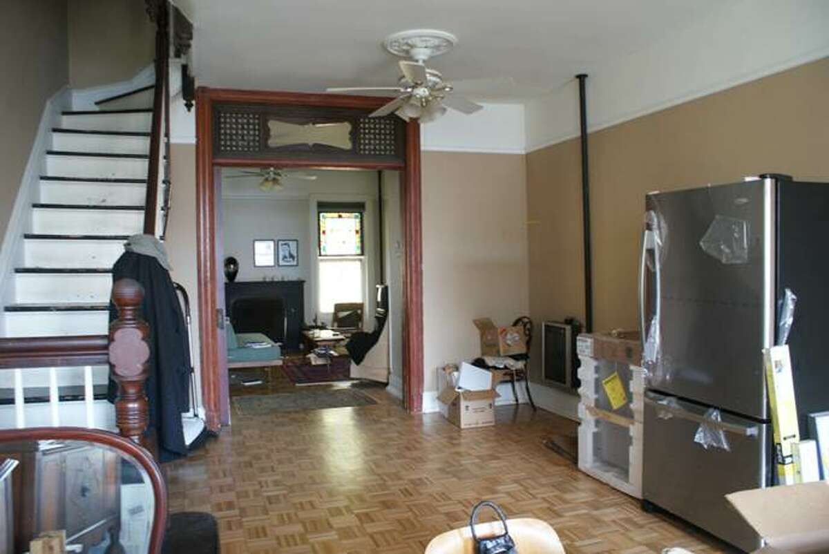 The first floor of Shadi Khadivi and Jason D'Cruz's home at 56 1/2 Spring St., Albany, during renovations.