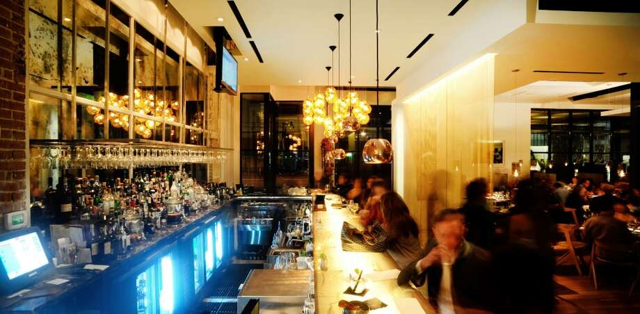 Bar at Triniti restaurant, Houston.