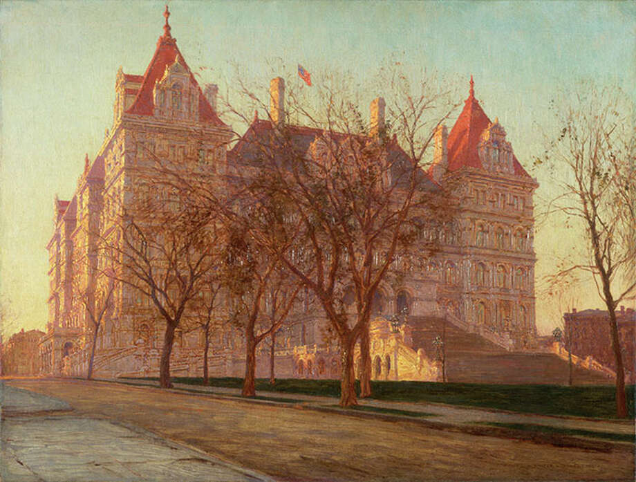 "New York State Capitol Walter Launt Palmer (1854-1932) 1907 Oil on canvas, ht.22 1/2"" x w.29 1/2"" Albany Institute of History & Art Purchase, 1989.29"