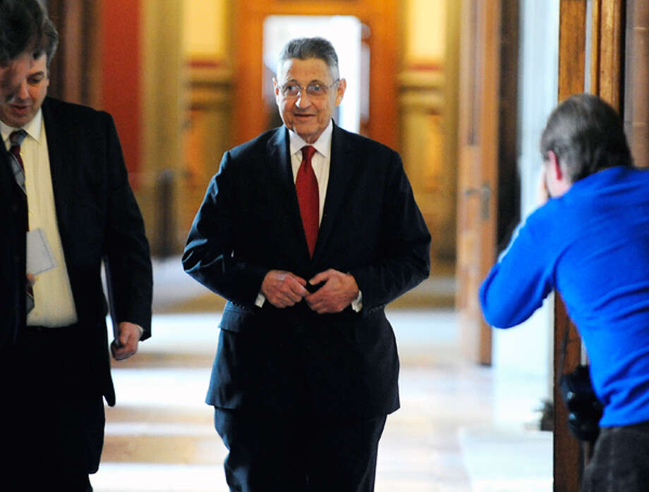 Assembly Speaker Sheldon Silver makes his way to the Governor's office for a budget meeting on Thursday, March 27, 2014, in Albany, N.Y.   (Paul Buckowski / Times Union) Photo: Paul Buckowski