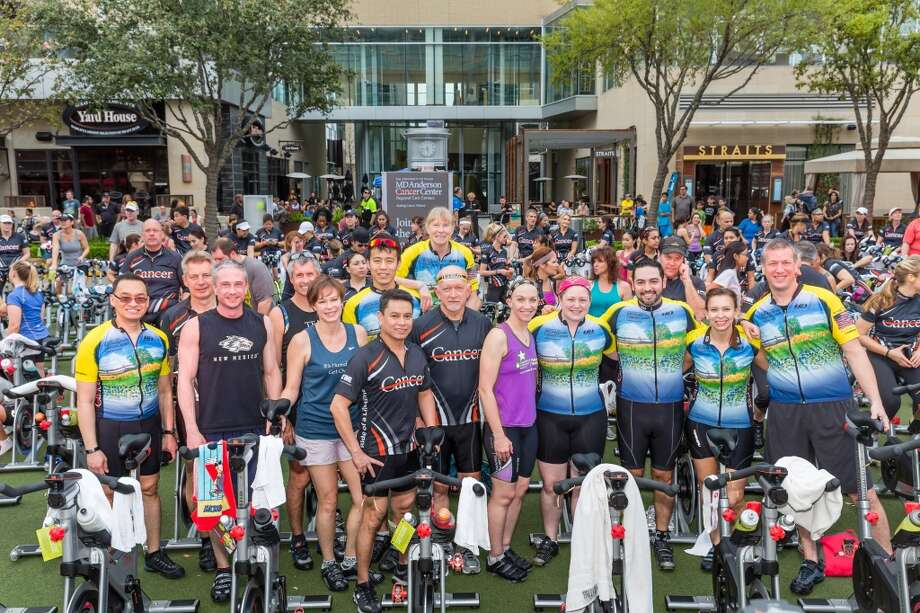 The MD Anderson Cycling Club claimed front row bikes at the MD Anderson Regional Care Centers Ride of a Lifetime event on Saturday, March 22 in CITYCENTRE plaza. Photo: Terry Halsey   Th@terryhalsey.co