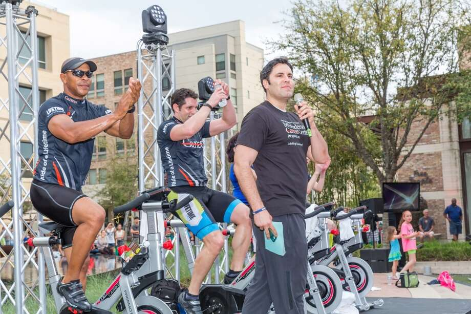 Gabe Canales, prostate cancer survivor and founder of the Blue Cure Foundation was the evening's emcee at the MD Anderson Regional Care Centers Ride of a Lifetime event on Saturday, March 22 in CITYCENTRE plaza. Photo: Terry Halsey