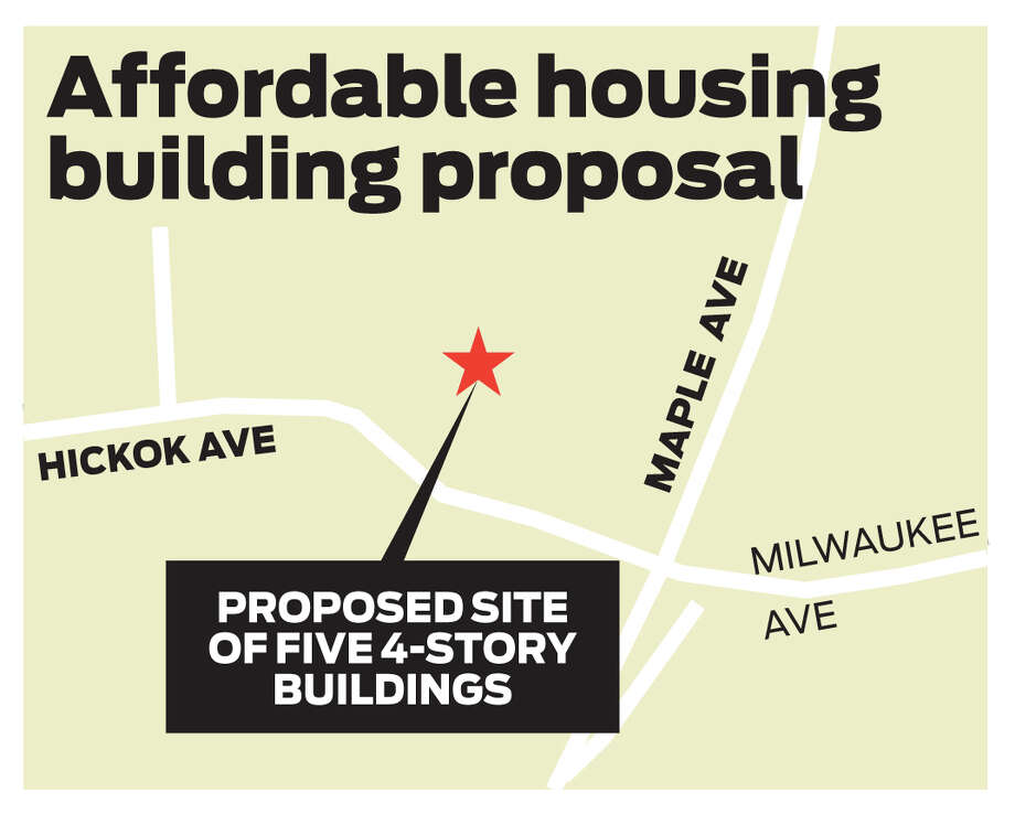 Affordable housing proposal in Bethel, Conn. in the area of Hickok Avenue and Maple Avenue. Photo: Contributed Photo / The News-Times Contributed