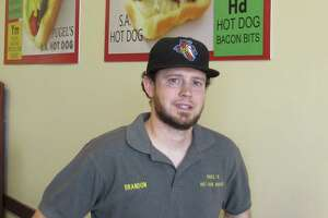 Brandon Pugel is part-owner and general manager of the Original San Antonio Hot Dog House.