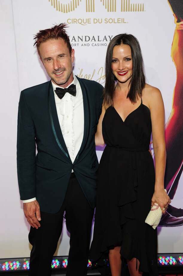 Actor David Arquette (L) and television personality Christina McLarty are having their first child together. Photo: Steven Lawton, FilmMagic