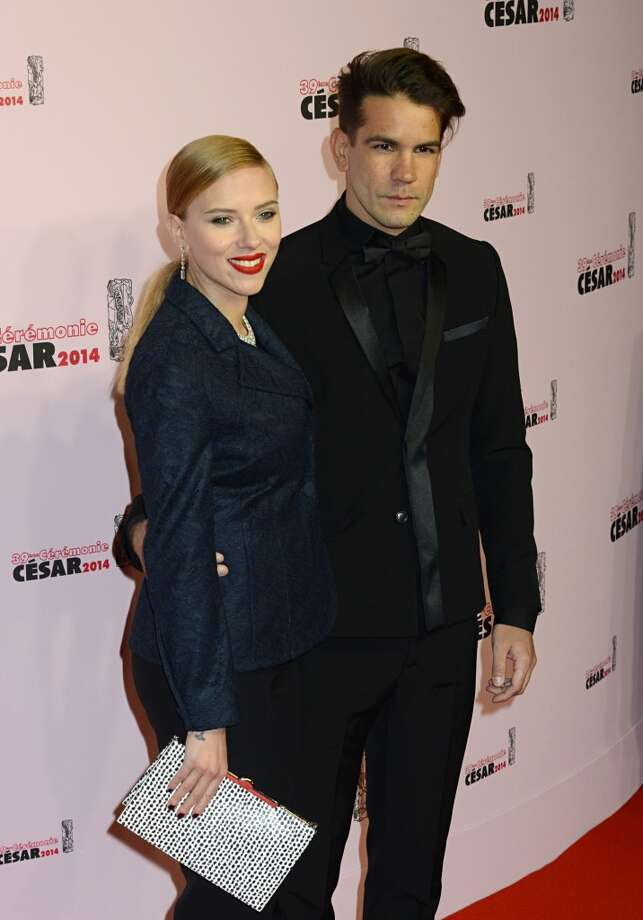 Scarlet Johannson and fiancé Romain Dauriac are expecting their first child. Photo: Foc Kan, FilmMagic