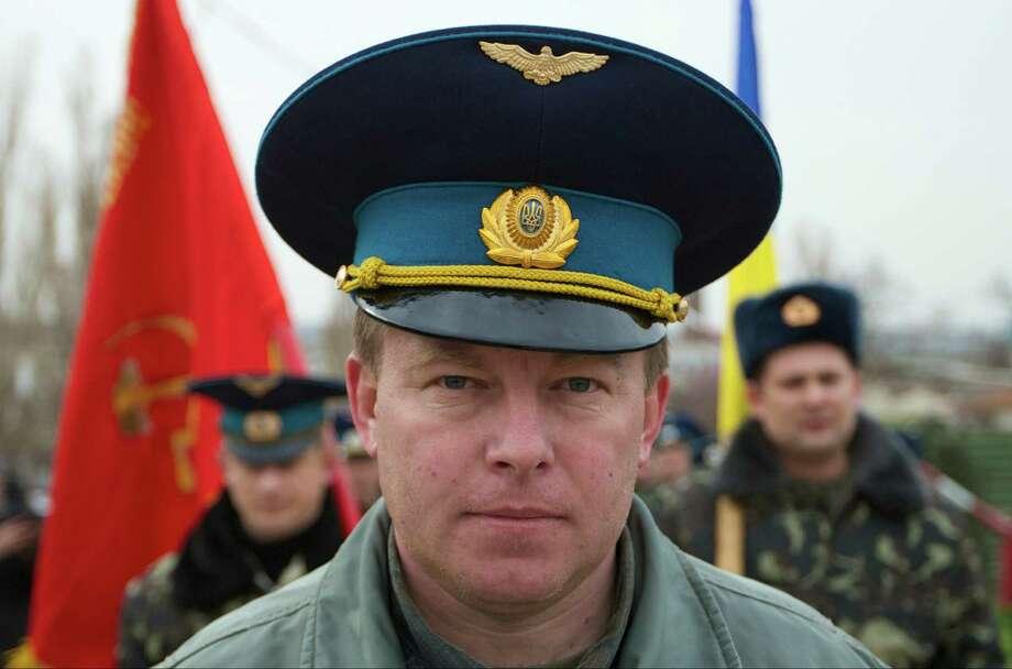 Ukrainian Air Force Col.  Yuliy Mamchur rejected pressure to defect. Photo: Ivan Sekretarev, STF / AP
