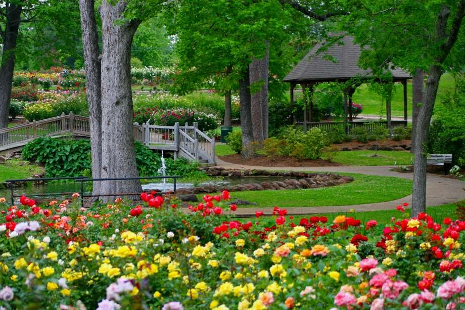 A path winds through the Meditation Garden in the Tyler Rose Garden. Photo: Jan Thompson, City Of Tyler