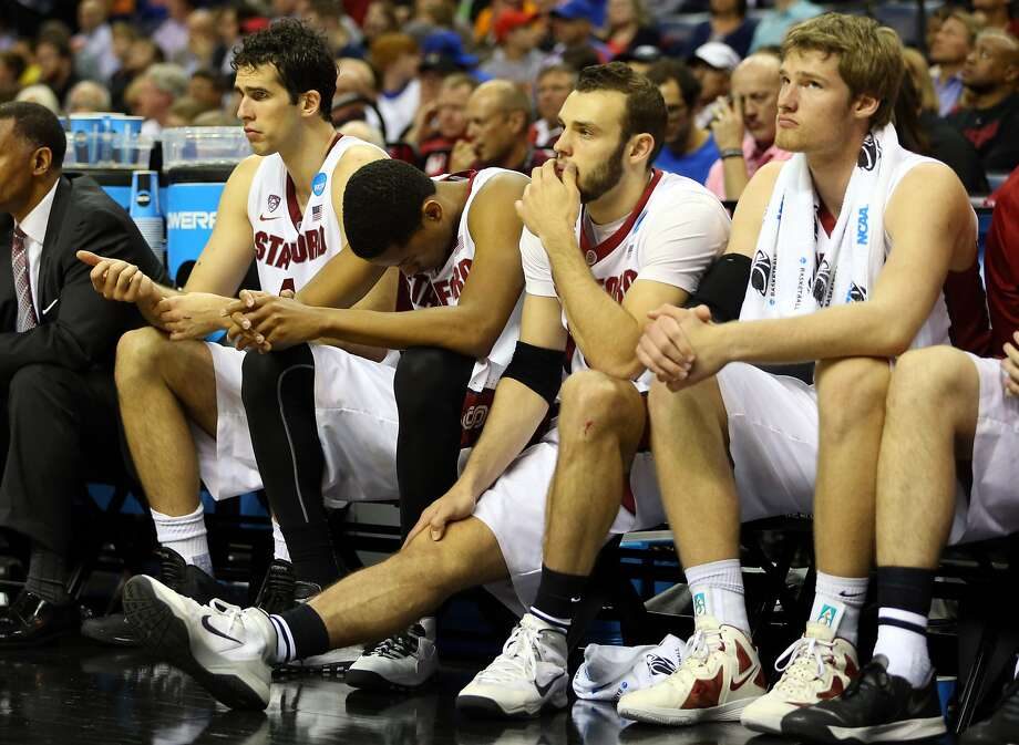 Stanford's Stefan Nastic (left), Anthony Brown, Robbie Lemons and Grant Verhoeven had little reason to cheer. Photo: Spruce Derden, Reuters