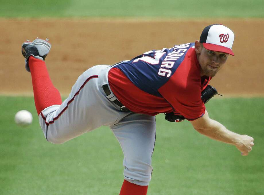 Nationals ace Stephen Strasburg anchors a rotation that's one of baseball's best, and Jerry Blevins should bolster the bullpen. Photo: David Goldman / Associated Press / AP