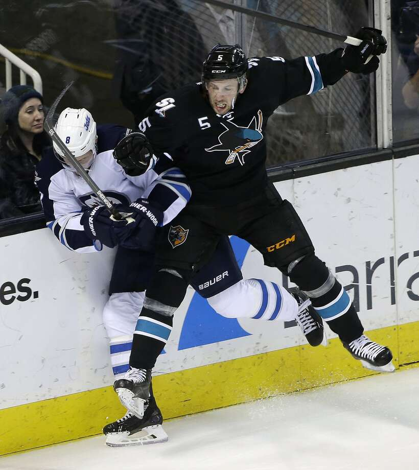 Sharks defenseman Jason Demers set career highs with five goals, 29 assists and 34 points last season. Photo: Marcio Jose Sanchez, Associated Press