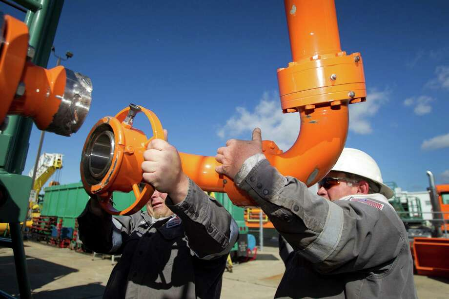 Hydraulic fracturing has led to a surge in natural gas production, which has in turn brought a push for gas exports. Photo: Brett Coomer, Staff / © 2013 Houston Chronicle
