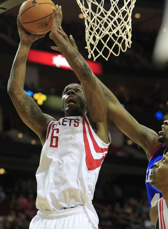 Rockets forward Terrence Jones drives to the basket. Photo: Johnny Hanson, Houston Chronicle
