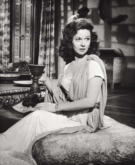 American actress Susan Hayward acting in 'David and ...