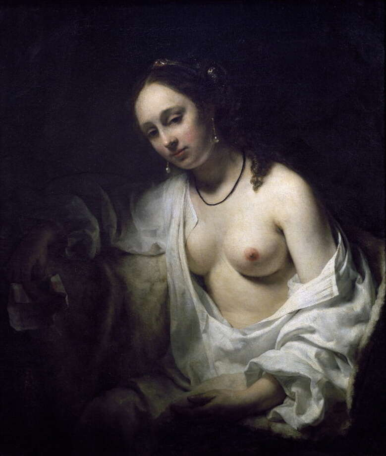 No wonder Biblical stories should have a place in cinema, when you consider the place it held for centuries in painting and sculpture.  What a perfect combination -- paint a nude and get credit for religious instruction. Here we see  Bathsheba receiving a letter from David, by Willem Drost (1630-1680). (Photo by DeAgostini/Getty Images); Paris, Musée Du Louvre. (Photo by DeAgostini/Getty Images) Photo: DEA / G. DAGLI ORTI, De Agostini/Getty Images / De Agostini Editorial