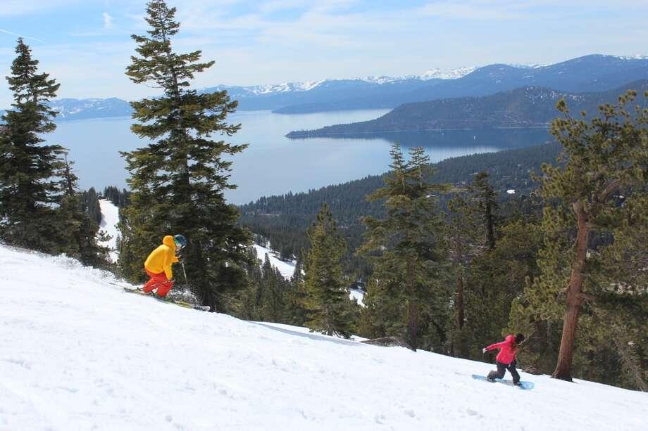 The lake from Diamond Peak