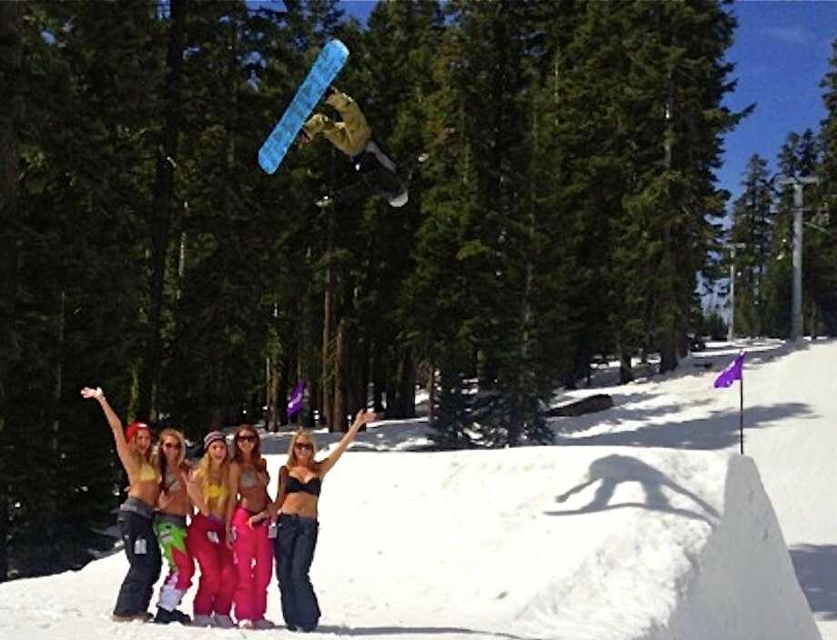 Average snowboarders at Sierra-at-Tahoe