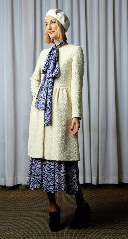 Tatiana Massey in a Simone Rocha coat and Alexander Terekhov dress Photo: Karen Warren, Staff / © 2013 Houston Chronicle