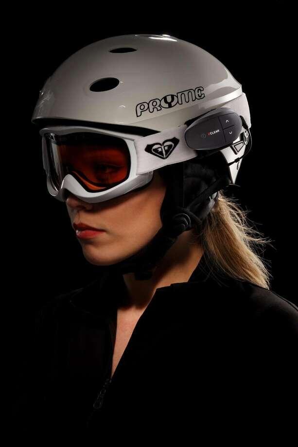 The UCLEAR HBC220 Snow ski helmet communication system. (Steve Welsh/UCLEAR/Chicago Tribune/MCT) Photo: Steve Welsh, MBR / UCLEAR/MCT
